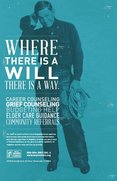Will Rogers Outreach Poster
